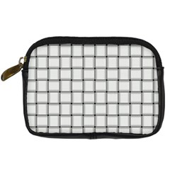White Weave Digital Camera Leather Case