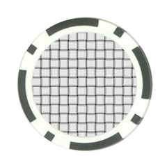 White Weave Poker Chip 10 Pack
