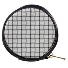 White Weave Mini Makeup Case