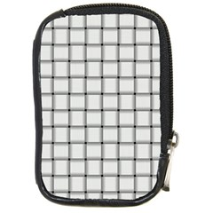 White Weave Compact Camera Leather Case