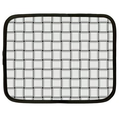 White Weave Netbook Case (xl)