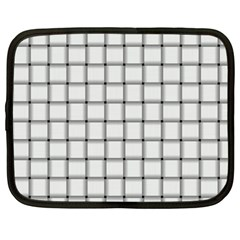 White Weave Netbook Case (XXL)