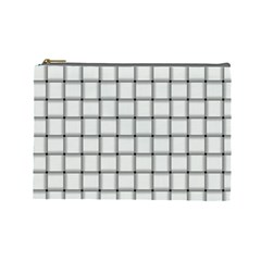 White Weave Cosmetic Bag (Large)