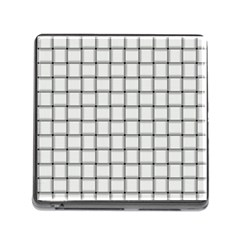 White Weave Memory Card Reader with Storage (Square)