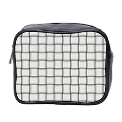 White Weave Mini Travel Toiletry Bag (two Sides)