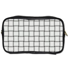 White Weave Travel Toiletry Bag (Two Sides)