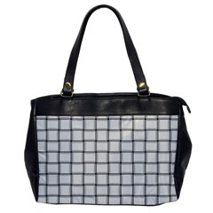 White Weave Oversize Office Handbag (One Side)