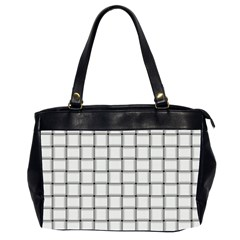 White Weave Oversize Office Handbag (two Sides)