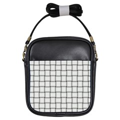 White Weave Girl s Sling Bag