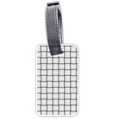 White Weave Luggage Tag (Two Sides)