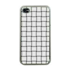 White Weave Apple iPhone 4 Case (Clear)