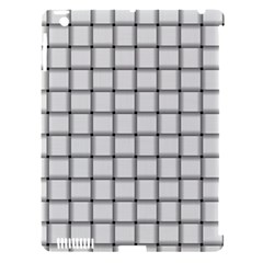 White Weave Apple iPad 3/4 Hardshell Case (Compatible with Smart Cover)