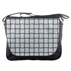 White Weave Messenger Bag