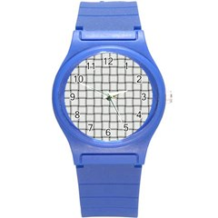 White Weave Plastic Sport Watch (small)