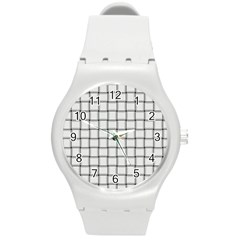 White Weave Plastic Sport Watch (Medium)