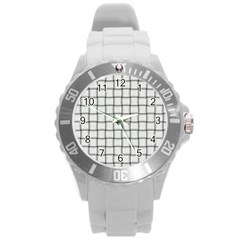 White Weave Plastic Sport Watch (Large)