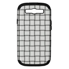 White Weave Samsung Galaxy S Iii Hardshell Case (pc+silicone)