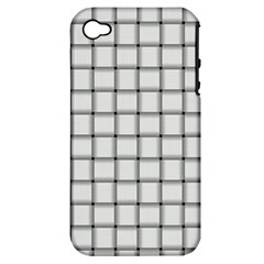 White Weave Apple iPhone 4/4S Hardshell Case (PC+Silicone)