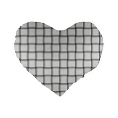 White Weave 16  Premium Heart Shape Cushion