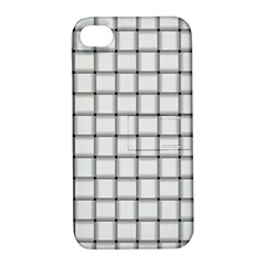 White Weave Apple Iphone 4/4s Hardshell Case With Stand