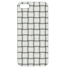 White Weave Apple iPhone 5 Hardshell Case with Stand