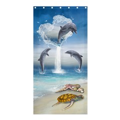 The Heart Of The Dolphins Shower Curtain 36  X 72  (stall)