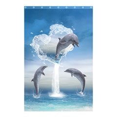 The Heart Of The Dolphins Shower Curtain 48  x 72  (Small)
