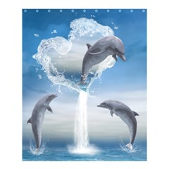 The Heart Of The Dolphins Shower Curtain 60  X 72  (medium)