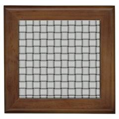 Gray Weave Framed Ceramic Tile