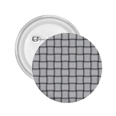Gray Weave 2.25  Button