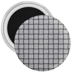 Gray Weave 3  Button Magnet