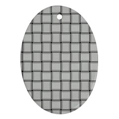 Gray Weave Oval Ornament