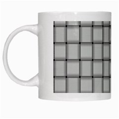 Gray Weave White Coffee Mug