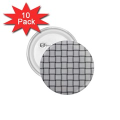 Gray Weave 1 75  Button (10 Pack)