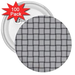 Gray Weave 3  Button (100 pack)
