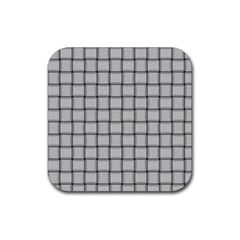 Gray Weave Drink Coasters 4 Pack (Square)