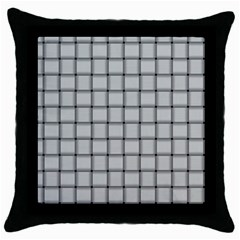 Gray Weave Black Throw Pillow Case