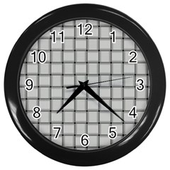 Gray Weave Wall Clock (black)