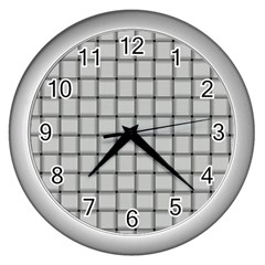 Gray Weave Wall Clock (Silver)