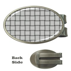 Gray Weave Money Clip (Oval)