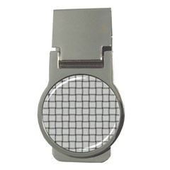 Gray Weave Money Clip (Round)