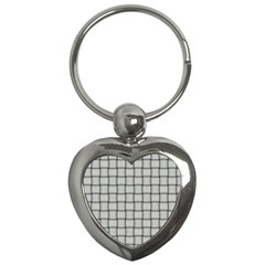 Gray Weave Key Chain (Heart)