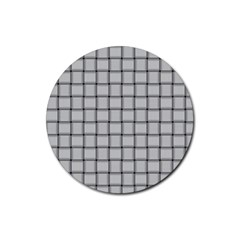Gray Weave Drink Coasters 4 Pack (Round)