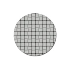 Gray Weave Magnet 3  (Round)