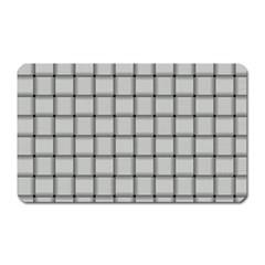 Gray Weave Magnet (rectangular)