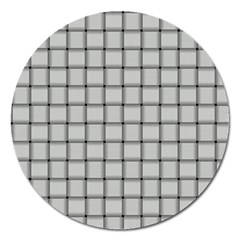 Gray Weave Magnet 5  (round)