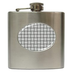 Gray Weave Hip Flask
