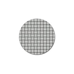 Gray Weave Golf Ball Marker