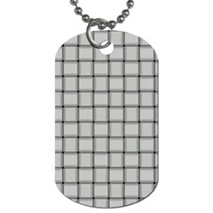 Gray Weave Dog Tag (two Sided)