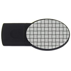 Gray Weave 1GB USB Flash Drive (Oval)